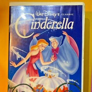 Rare Black Diamond label Disney Cinderella VHS